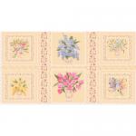 """Ткань для пэчворк (60x110см) ВЭ-01 из коллекции """"Весенний этюд"""" """"Peppy"""""""