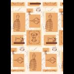 """Ткань для пэчворк (60x110см) ВМ-03 из коллекции """"Век моды"""" """"Peppy"""""""