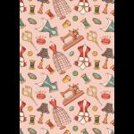 """Ткань для пэчворк (50x55см) ВМ-14 из коллекции """"Век моды"""" """"Peppy"""""""