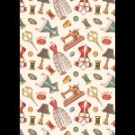 """Ткань для пэчворк (50x55см) ВМ-15 из коллекции """"Век моды"""" """"Peppy"""""""