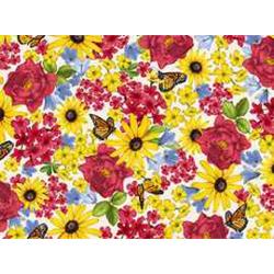 """Ткань для пэчворк 23516-E из коллекции """"Цветочные гравюры"""" """"Quilting Treasures"""" (США)"""