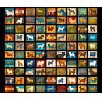 """Ткань для пэчворк 26935-J из коллекции """"Must Love Dogs"""" """"Quilting Treasures"""" (США)"""