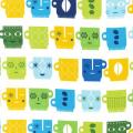 """Ткань для пэчворк (50x55см) 10761-237 из коллекции """"Metro Cafe"""" """"Robert Kaufman""""(США)"""