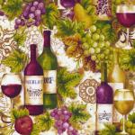 """Ткань для пэчворк 13622-102 из коллекции """"Виноградник"""" """"Robert Kaufman""""(США)"""