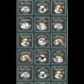 """Ткань для пэчворк (60x110см) 15022-184 из коллекции """"Metro Cafe"""" """"Robert Kaufman""""(США)"""