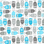 "Ткань фланель (50x55см) 15310-12 из коллекции ""Urban Zoologie Minis"" ""Robert Kaufman""(США)"