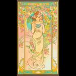"""Ткань для пэчворк (60x110см) 18190-238 из коллекции """"Alphonse Mucha"""" """"Robert Kaufman""""(США)"""