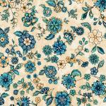 """Ткань для пэчворк (50x55см) 18132-14 из коллекции """"Calista"""" """"Robert Kaufman""""(США)"""