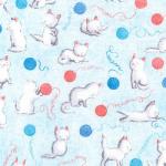 "Ткань фланель (100x110см) 16978-4 из коллекции ""Cuddly kittens"" ""Robert Kaufman""(США)"