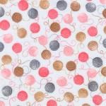 "Ткань фланель (100x110см) 16979-12 из коллекции ""Cuddly kittens"" ""Robert Kaufman""(США)"