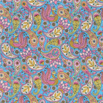 "Ткань для пэчворк (50x55см) 17635-192 из коллекции ""Delphine"" ""Robert Kaufman""(США)"
