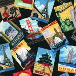 """Ткань для пэчворк (60x110см) 15154-195 из коллекции """"Dream vacation"""" """"Robert Kaufman""""(США)"""