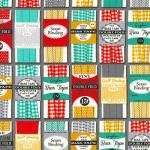 """Ткань для пэчворк (50x55см) 16400-12 из коллекции """"Grans sewing basket"""" """"Robert Kaufman""""(США)"""