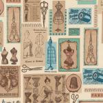 "Ткань для пэчворк (60x110см) 16065-200 из коллекции ""Heirloom diary"" ""Robert Kaufman""(США)"