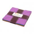 """Набор тканей """"Треугольники Bright"""" из коллекции """"Kona Cotton"""" """"Robert Kaufman""""(США)"""