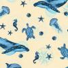 "Ткань для пэчворк (50x55см) 16722-59 из коллекции ""Marine Isle"" ""Robert Kaufman""(США)"