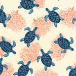 "Ткань для пэчворк (50x55см) 16723-248 из коллекции ""Marine Isle"" ""Robert Kaufman""(США)"