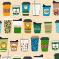 """Ткань для пэчворк (60x110см) 14289-237 из коллекции """"Metro Cafe"""" """"Robert Kaufman""""(США)"""