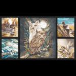 """Ткань для пэчворк (60x110см) 16633-169 из коллекции """"North America Wildlife"""" """"Robert Kaufman""""(США)"""