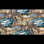 """Ткань для пэчворк (60x110см) 16634-169 из коллекции """"North America Wildlife"""" """"Robert Kaufman""""(США)"""