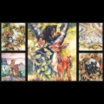 """Ткань для пэчворк (60x110см) 17378-268 из коллекции """"North America Wildlife"""" """"Robert Kaufman""""(США)"""