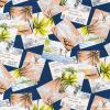 "Ткань для пэчворк (50x55см) SB-4131D1-4 из коллекции ""Sevenberry Island Paradise"" ""Robert Kaufman""(США)"