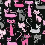 "Ткань для пэчворк (50x55см) 15375-2 из коллекции ""Whiskers and Tails"" ""Robert Kaufman""(США)"