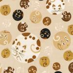 "Ткань для пэчворк (50x55см) 16986-14 из коллекции ""Whiskers and Tails"" ""Robert Kaufman""(США)"