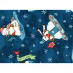 """Ткань для пэчворк (60x110см) 24441DKBLU из коллекции """"Warm wishes"""""""