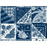 """Ткань для пэчворк (60x110см) 25140BLU из коллекции """"Bombay"""""""