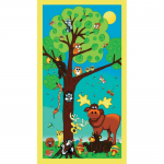 "Ткань для пэчворк (60x110см) 25254MUL из коллекции ""Forest friends"""