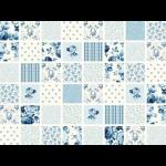 """Ткань для пэчворк (60x110см) 25375BLU из коллекции """"Symphony rose"""""""