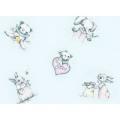 """Ткань фланель (60x110см) 25401BLU1F из коллекции """"Finch and friends"""" """"Red Rooster fabrics""""(США)"""