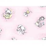 "Ткань фланель (60x110см) 25401PIN1F из коллекции ""Finch and friends"" ""Red Rooster fabrics""(США)"