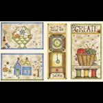 """Ткань для пэчворк (60x110см) 25455MUL из коллекции """"Time to stitch"""""""