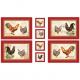 "Ткань для пэчворк (60x110см) 25525MUL из коллекции ""French country roosters"""