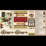 """Ткань для пэчворк (60x110см) 25549MUL из коллекции """"School days"""""""