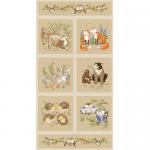 """Ткань для пэчворк (60x110см) 25716MUL из коллекции """"Forest florics"""""""