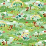 """Ткань для пэчворк (60x110см) 25885MUL из коллекции """"Rainbow Woodland"""""""