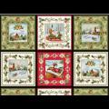 """Ткань для пэчворк (60x110см) 26101MUL из коллекции """"Christmas bells"""" """"Red Rooster fabrics"""""""