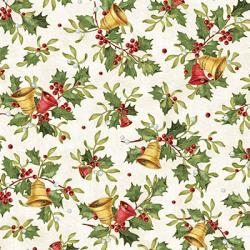 """Ткань для пэчворк (50x55см) 26102MUL из коллекции """"Christmas bells"""" """"Red Rooster fabrics"""""""