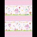 """Ткань для пэчворк (60x110см) 26403PIN из коллекции """"A bundle of pink"""""""