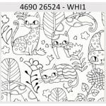 "Ткань для пэчворк (60x110см) 26524WHI из коллекции ""Cool Cats"" ""Red Rooster Fabrics"""