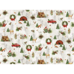"Ткань для пэчворк (60x110см) 26600MUL из коллекции ""Cozy Cabin Christmas"" ""Red Rooster Fabrics"""