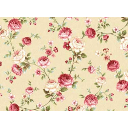 "Ткань для пэчворк (50x55см) 25912BEI из коллекции ""Mrs. Miniver"" ""Red Rooster Fabrics"""