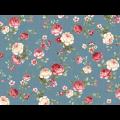 "Ткань для пэчворк (50x55см) 25912BLU из коллекции ""Mrs. Miniver"" ""Red Rooster Fabrics"""
