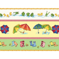 "Ткань для пэчворк (60x110см) 26282MUL из коллекции ""Puddle jumpers"" ""Red Rooster Fabrics"""