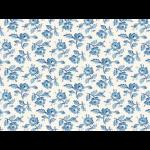 """Ткань для пэчворк (50x55см) 25377LTBLU из коллекции """"Symphony rose"""""""