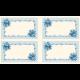 """Ткань для пэчворк (60x110см) 25393BLU из коллекции """"Symphony rose"""""""