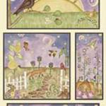 "Ткань для пэчворк (60x110см) 23317MUL из коллекции ""Who comes to Zinnias garden"" ""Red Rooster Fabrics """